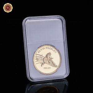 WR-Moneda-de-metal-plateado-en-oro-Elvis-Presley-Moneda-de-artesania-en-metal