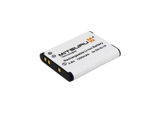 Mitsuru ® 1200mAh Batería Nikon CoolPix 100 1000 110 1100 1200 2500 2550 2600 300