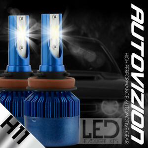 H11 6000K 2017 388W 38800LM dual-Side LED Headlight Kit Low Beam bulb High Power