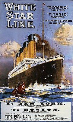 Titanic White Star Ship Ocean Liner Memorabilia ...