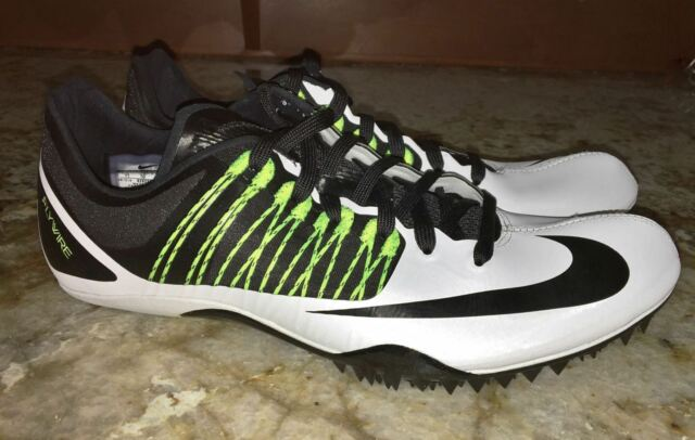 newest 9ac55 5ed1e NIKE Celar 5 Sprint Track Spikes Shoes White Black Volt NEW Mens Sz 5.5 11  12