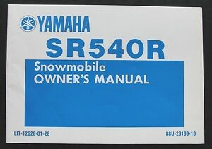 1990-1991-YAMAHA-SR540R-540-SNOWMOBILE-OPERATORS-OWNERS-MANUAL-NICE