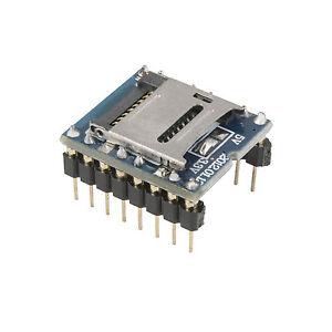 Mini-SD-Card-MP3-Sound-Karte-voice-klingen-fuer-PIC-Arduino-WTV020-SD-16P-TE399