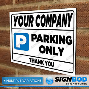 Image Is Loading No Parking Sign Your Company Name Business
