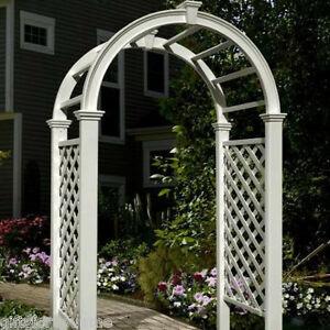 New england arbors decorative vinyl livingston garden patio arch trellis lattice - Decoratie new england ...