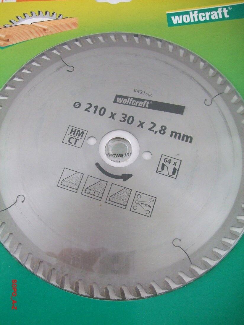 Kreissägeblatt HMCT Ø210x30x2,8 mm  Wolfcraft Sägeblatt 64 Zähne