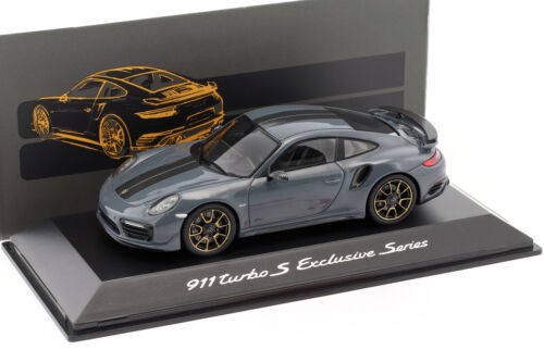 Turbo S Exclusives Series graphit blau metallic 1:43 Spark Porsche 911 991