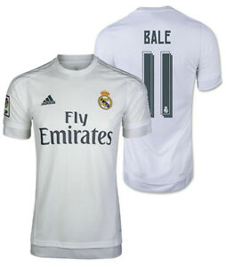 best service a9677 c3a5e Details about ADIDAS GARETH BALE REAL MADRID HOME JERSEY 2015/16