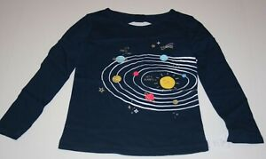 New-Carter-039-s-Girls-Top-3T-5T-6-7-8-14-yr-Glitter-Graphic-Solar-System-Happy-Sun