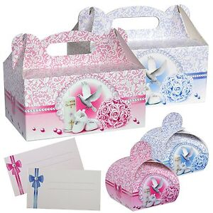 Kuchenkarton-Set-Tortenschachtel-Tortenkarton-Tortenbox-Transportbox-Taufe-Baby