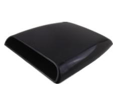 Auto Decorative DIY Vent Air Flow Intake Hood Scoop Bonnet Cover Black Universal