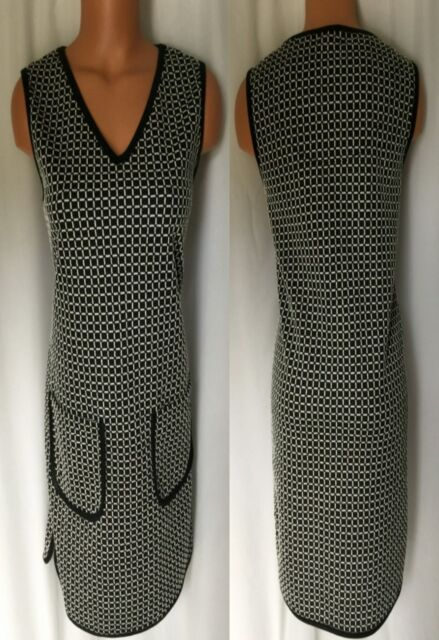 9dab180910c Max Studio Black   Ivory Faux Leather Trim Sleeveless Dress Size XS ...