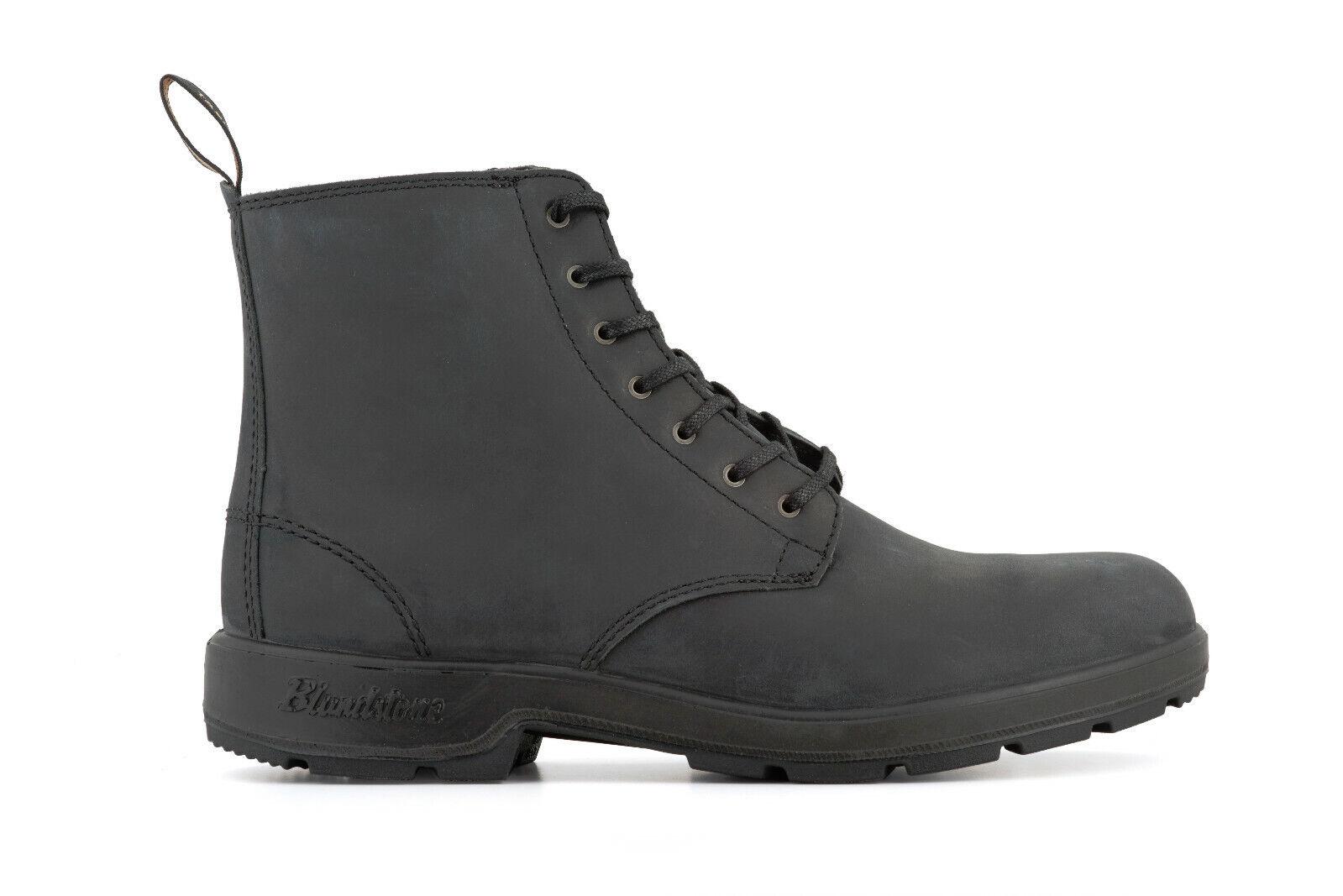 Blaundstone 1451 Schwarzes Leder Unisex Schnürer Knöchelhohe Stiefel