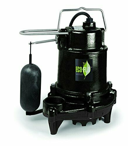 Heavy Duty 1 2 HP Fonte Vertical Switch Sump pump avec thermoplastique volute