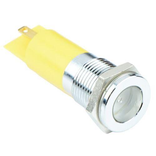 Yellow LED 14mm Panel Indicator Light 12VDC APEM