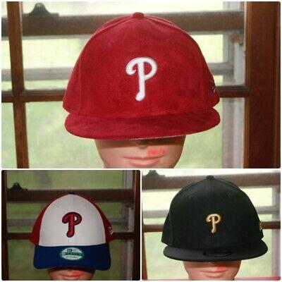 New Era Philadelphia Phillies Snapback Hat All Red//White