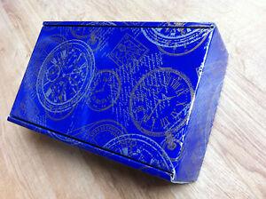1 Cadeau En Carton Pour 2 Bouteilles-imprimé Bleu-afficher Le Titre D'origine Fixation Des Prix En Fonction De La Qualité Des Produits