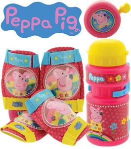 Knee Pads Elbow Pads Peppa Pig Bike Accessories Set Bell Water Bottle