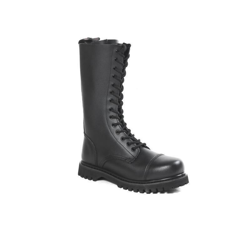 HLS stivali - 14 Fori Fori Fori Stivali di pelle con cappuccio in acciaio (opaco) Gothic Springer Stivali | Menu elegante e robusto  6c55c4