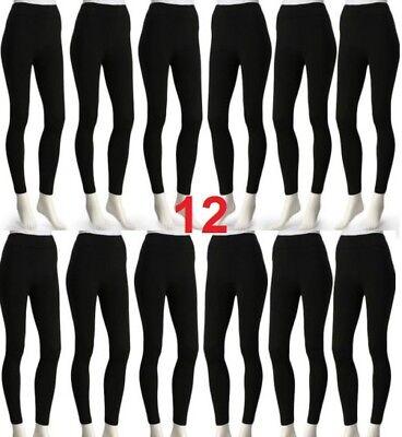 2 Dozen 24 Pieces Bundle Women Seamless Fitted Leggings Pants Wholesale Yoga