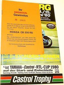14 15. Juin 80 Nordschleife Nürburgring Brochure De Programme Å
