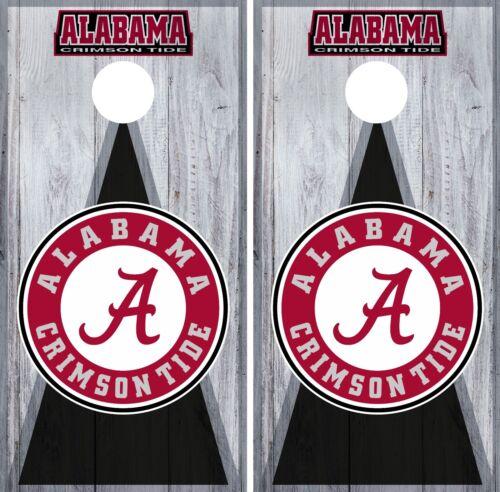 Alabama Crimson Tide Cornhole Wrap NCAA Board Skin Vinyl Decal Art Set CO733