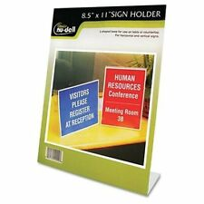 """Nu-dell One-piece Vertical Sign Holder - 8.50"""" Width X 11"""" Height - Acrylic -"""