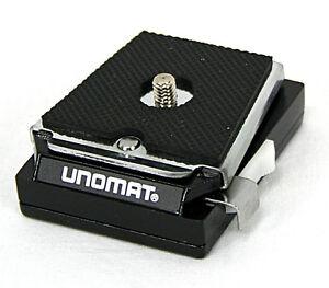Schnell-Wechselplatte-Universal-Kupplung-fuer-Kamerastativ-Kamera-Unomat-0919
