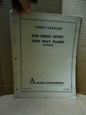 Allis Chalmers Parts Catalog 800 Series Offset Two Way Plows Oxnard Form 90013