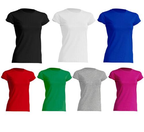 Damen Premium T-Shirt Runshals T-Shirt Basic Tee