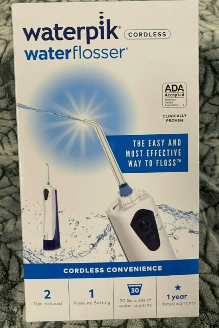Waterpik WHITE Cordless Waterflosser #WP-360W Brand new sealed