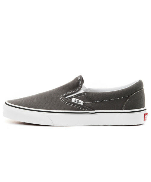 Vans New Authentic Canvas Classic Slip On Charcoal Unisex Canvas Authentic Sneakers VN000EYECHR1 a0e578