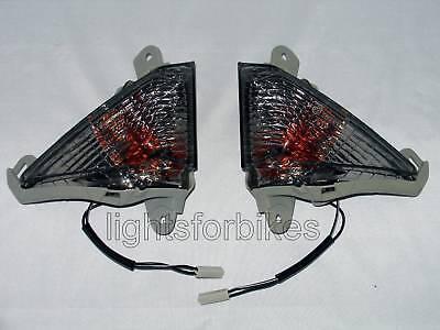 schwarze LED Front Blinker smoked LED signals Kawasaki ZZR 1400