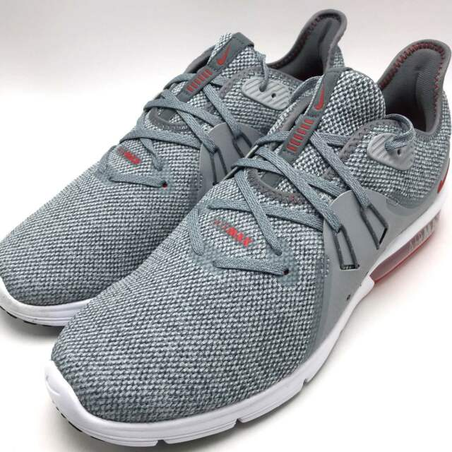 9def78186f7e47 Nike Air Max Sequent 3 Men s Running Shoes Cool Grey   University Red  921694-060