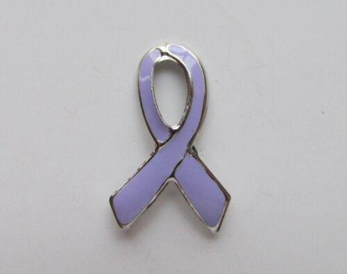 12 Enamel LAVENDAR Awareness RIBBON PINS epilepsy testicular cancer April lapel