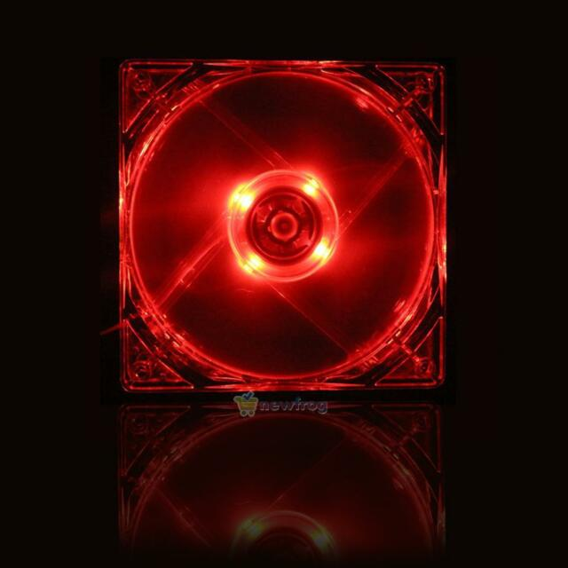 12cm 120mm RED LED 12V 4Pin Cooler CPU Cooling Fan For Computer PC Case Replace