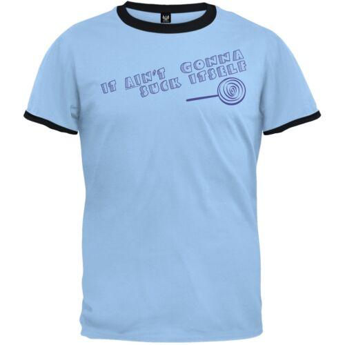 Suck Itself Ringer Adult Mens T-Shirt