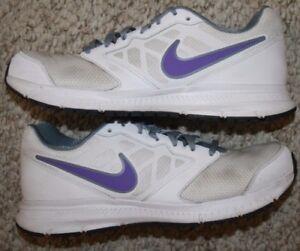 8b7fc30a1f8 Nike Downshifter 6 Running Shoes 9.5 Nine 1 2 Women s White Gray ...