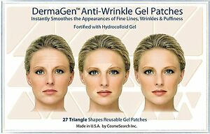 Details about DERMAGEN ANTI-WRINKLE PATCHES FROWN SMILE LINES CREASES  FOREHEAD (TRIANGLE)