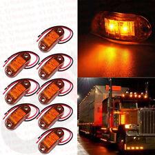 8Pcs Truck Pickup Van Trailers Boat Lamps Amber LED Side Marker Light Indicator