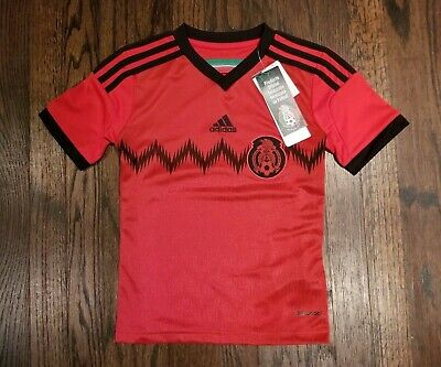 Kids Adidas FMF Mexico National Soccer Team Red Jersey | eBay