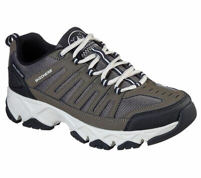 Skechers Brown Extra Wide Fit Shoes Men