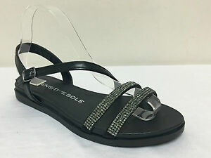 Sensitive Black Gladiator Variety Ladies Sizes Sole Womens Flat Sandals qfgwx7atn