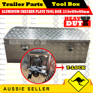 Aluminium-Top-Open-Tool-Box-1210-450-480-mm-Opening-Ute-Trailer-Toolbox-Checker
