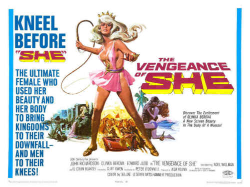 1968 THE VENGEANCE OF SHE VINTAGE ADVENTURE MOVIE POSTER PRINT STYLE B 18x24