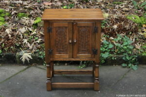 A-JAYCEE-OLD-CHARM-OAK-PEDESTAL-CABINET-PHONE-LAMP-BEDSIDE-TABLE-COFFEE-STAND