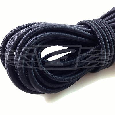 5mm x 10 METERS,  BLACK STRONG ELASTIC BUNGEE ROPE SHOCK CORD TIE DOWN FREE POST