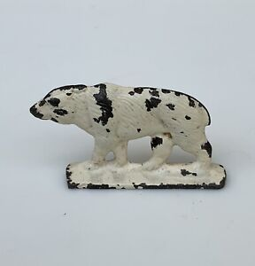 VTG-1949-Grendon-Valley-Toys-Lead-Figurine-Painted-White-Polar-Bear-2-25-L-F-S
