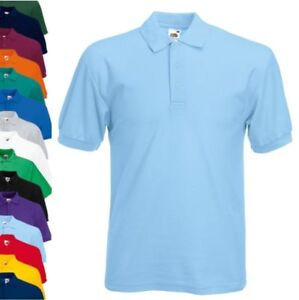 Fruit-of-the-loom-Polo-65-35-bouffigue-Polo-Shirts-S-M-L-Xl-Xxl-3xl-4xl-5xl-Neuf