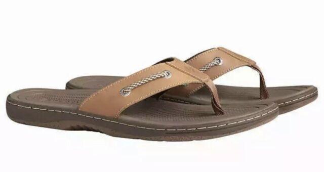 NEW Men's Sperry Size 11 Pensacola Brown Sandal Flip Flop